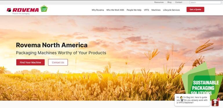 Rovema North America Announces New Website