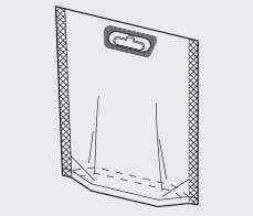 Rovema Ropack (Doypack)  with eurohole merchandizing feature