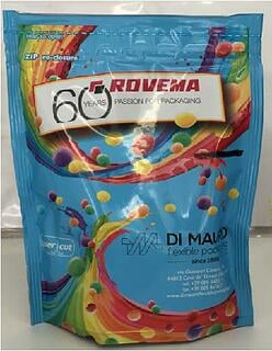 Rovema Ropack (Doypack) printed bag example for candy
