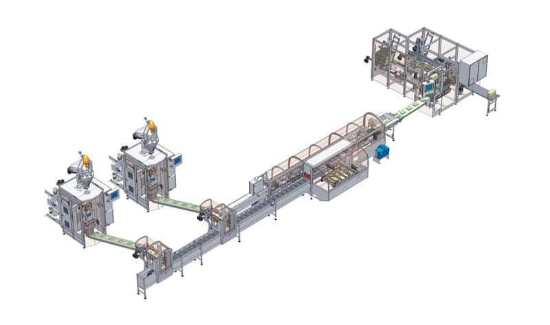 Rovema Turnkey Packaging Line CAD Image
