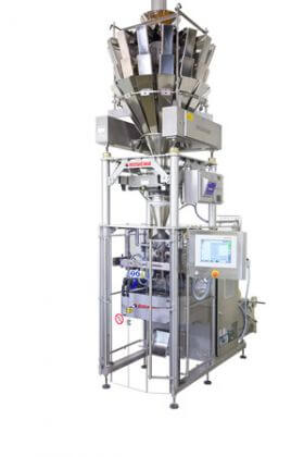 bvr vertical bagger with integrated scale for snack products