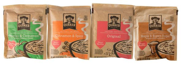 Quaker Oats Brand Example of 3 Side Seal Bag for Oatmeal and Cereal