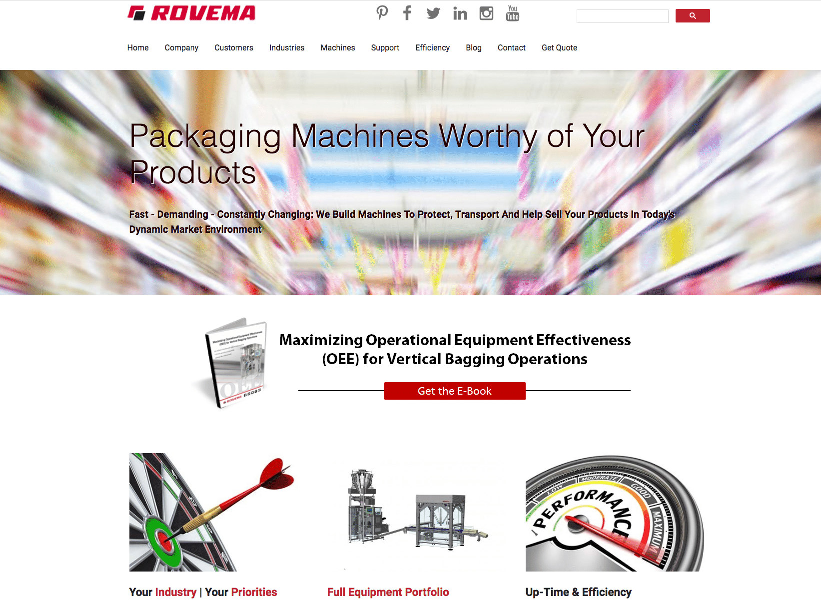 Rovema website provides expertise and insight for CPG manufacturers to improve VFFS operations
